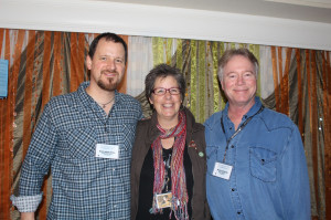 Hadley Music Showcases Nancy Beaudette, seen here with Brian Ashley Jones (left) and Wyatt Easterling (right)